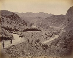 Landi Kotal Pass, showing road made by the (Q.O.) Madras Sappers.
